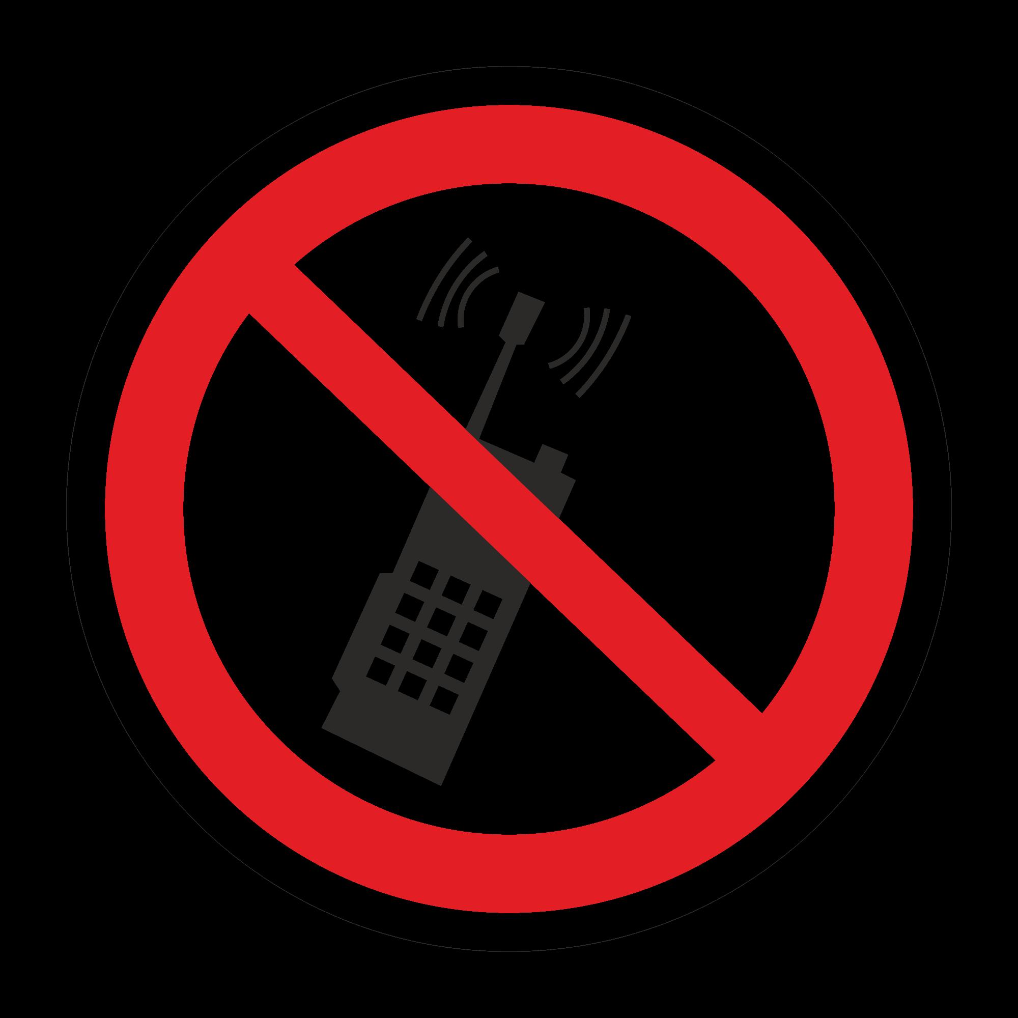 Р18 Запрещается пользоваться мобильным телефоном или рацией
