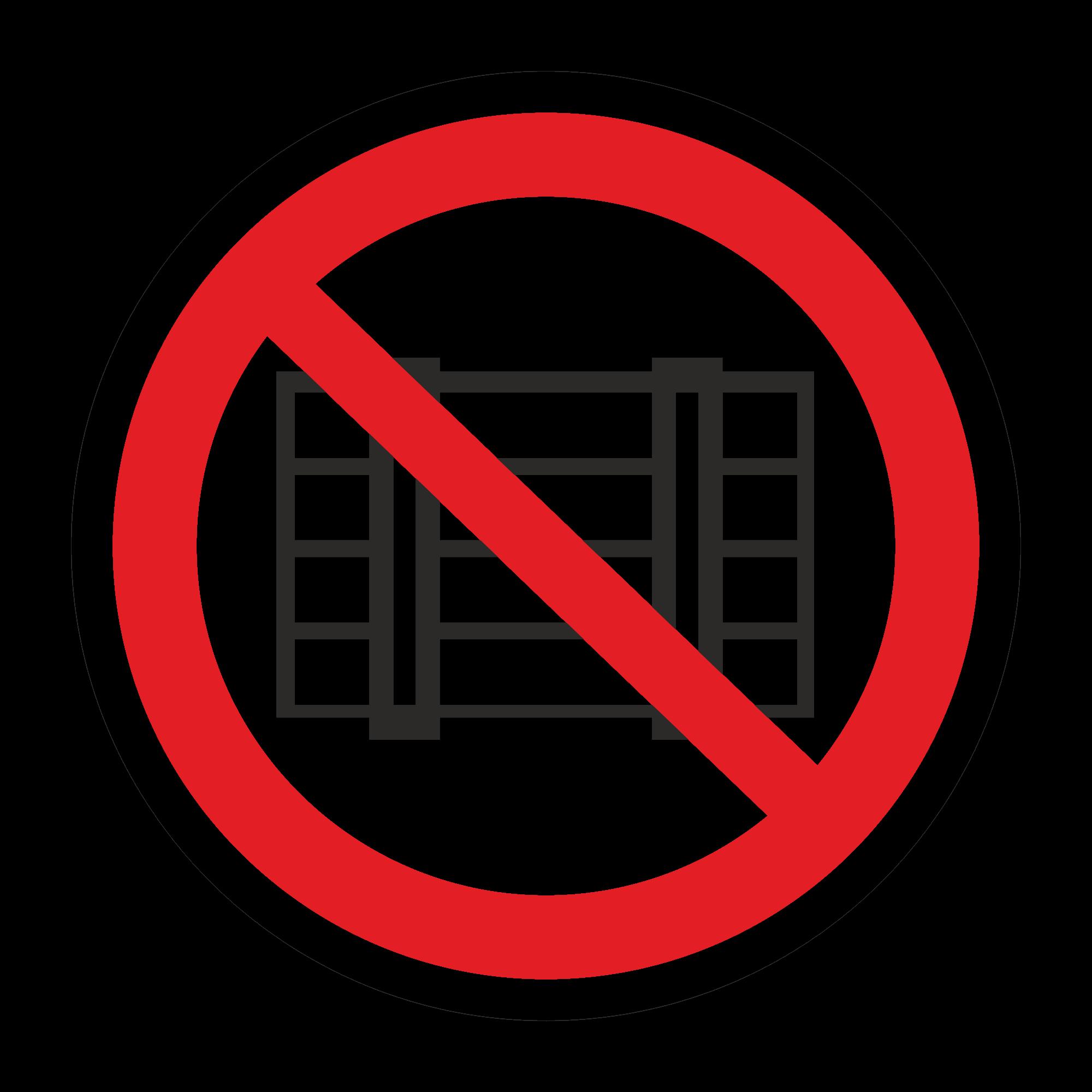 Р12 Запрещается загромождать проходы и/или складировать