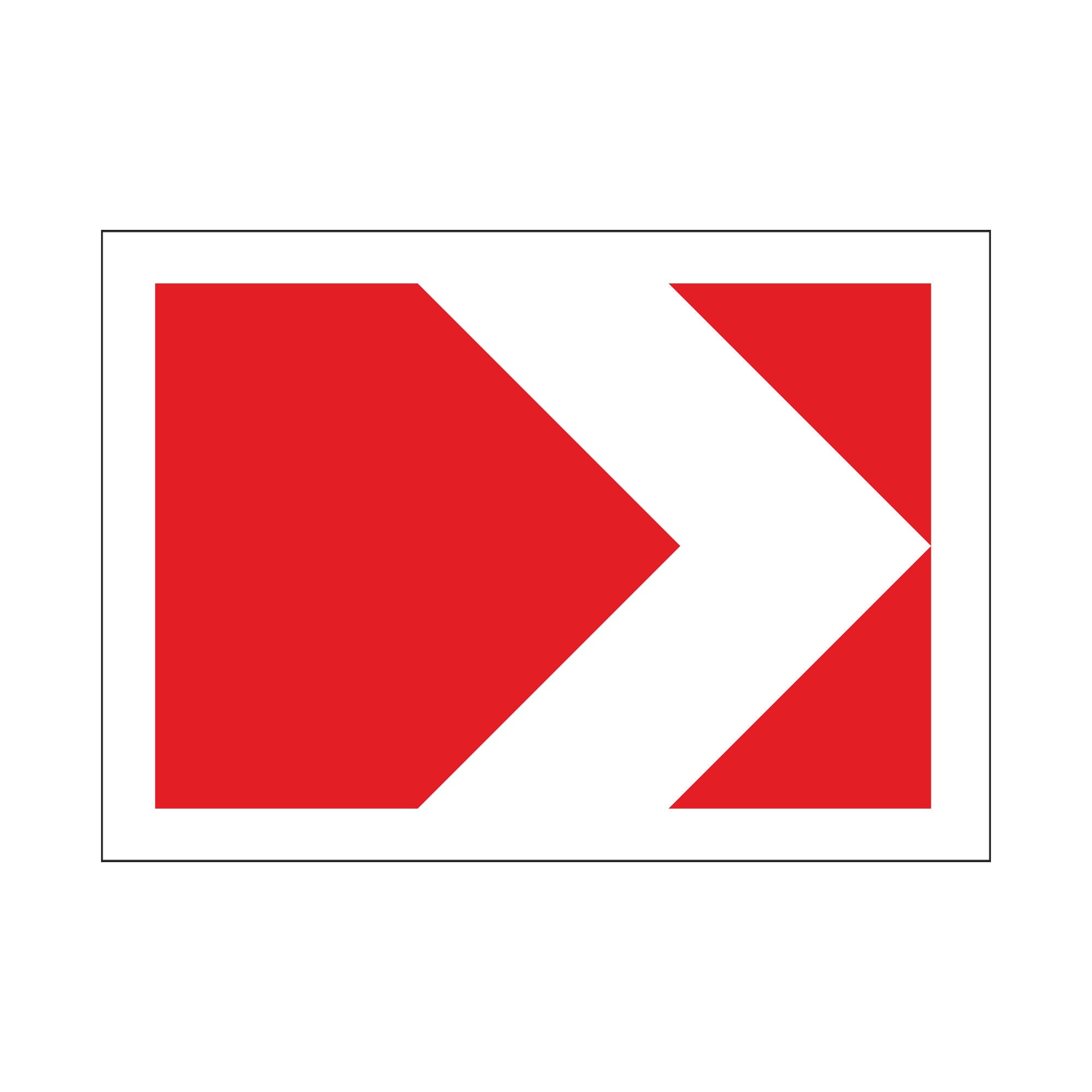 1.34.1 Направление поворота размер 1 (одна стрелка)