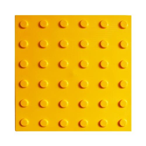 Тактильная плитка ПВХ с конусообразным рифом (300 мм)