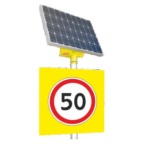 Автономный светодиодный знак 3.24 Ограничение максимальной скорости [На солнечных батареях]
