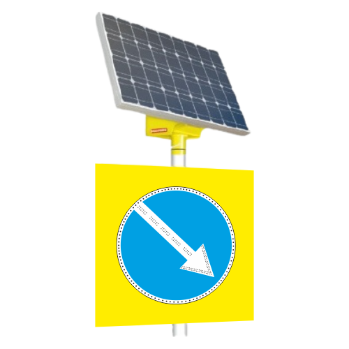Автономный светодиодный знак 4.2.1 Объезд препятствия справа [На солнечных батареях]