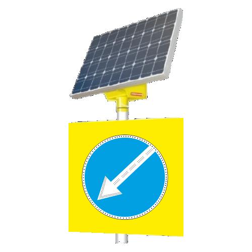 Автономный светодиодный знак 4.2.2 Объезд препятствия слева [На солнечных батареях]