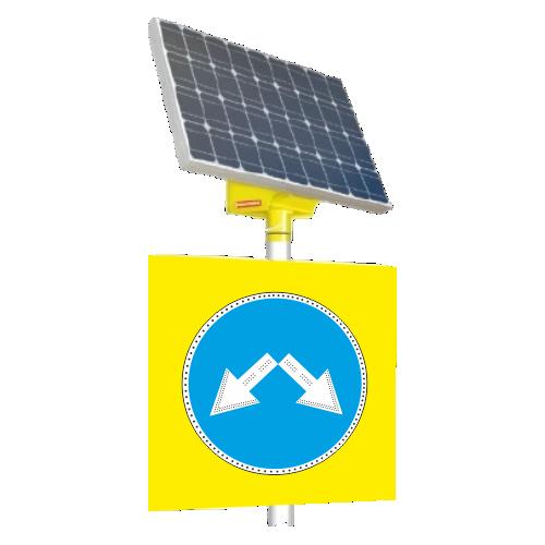 Автономный светодиодный знак 4.2.3 Объезд препятствия справа или слева [На солнечных батареях]