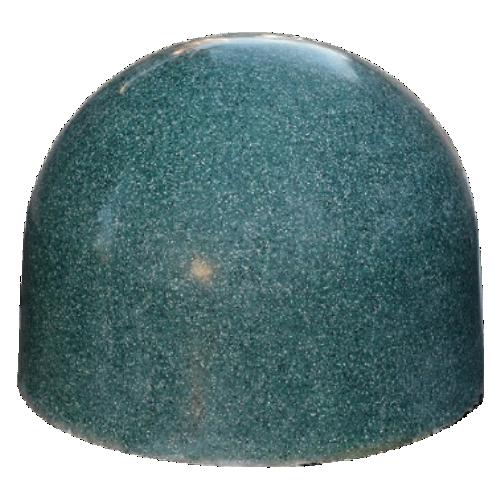 Бетонная полусфера БПС-12 [Под гранит, зеленая, антипарковочная]