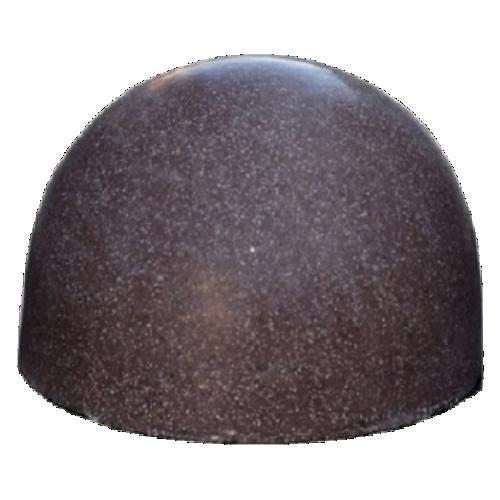 Бетонная полусфера БПС-10 [Под гранит, коричневая, антипарковочная]