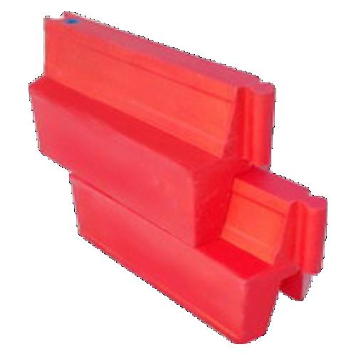 Дорожный водоналивной вкладывающийся барьер, пластиковый БВ-В-1-К [красный]