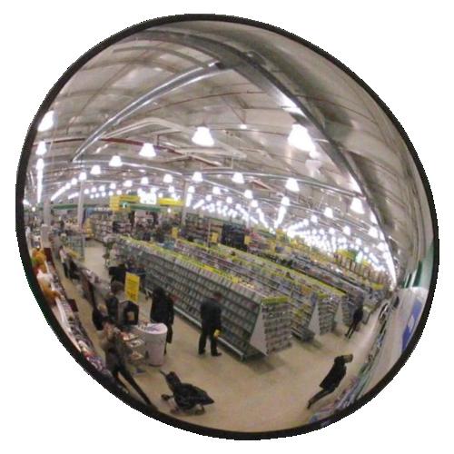 Обзорное универсальное зеркало сферическое круглое диаметр Ø-400-2
