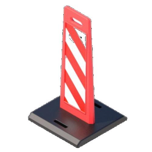 """Пластиковое дорожное ограждение """"Солдатик"""" с верхней ручкой на резиновой подставке [Красный]"""