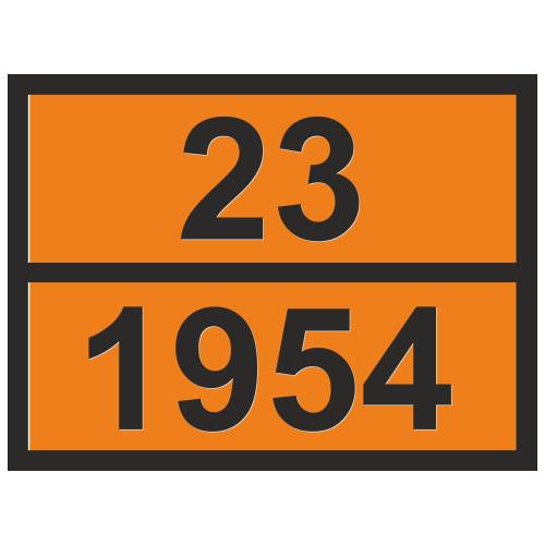 Табличка опасный груз 23-1954 Газ сжатый легковоспламеняющийся, н.у.к.