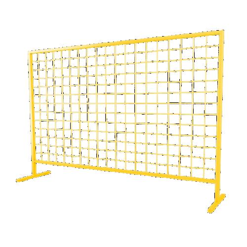 Временное строительное ограждение переносное ОС-1 [желтое]