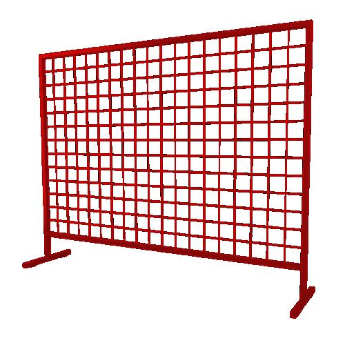 Временное строительное ограждение переносное ОС-2 [красно-коричневое]