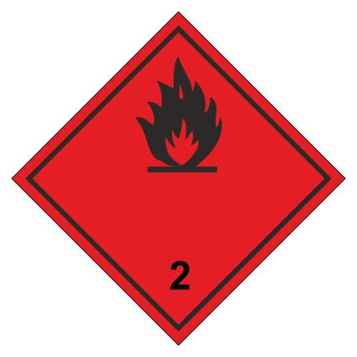 Знак опасности. Класс 2.3. Лекговоспламеняющиеся газы