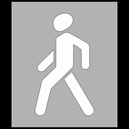 """Трафарет для дорожной разметки 1.23.2 """"Обозначение пешеходной дорожки"""" [Многоразовый]"""